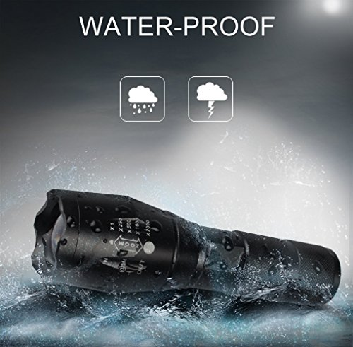 Led Flashlight Tactical SEGURO 1000 Lumen Super Brightness Portable Handhold Tactical flashlights small Zoomable, Waterproof, Shock Resistant, with 5 Modes, Ideal for Indoor, Outdoors, Home [2 PACK]