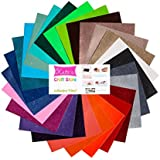 12x12 Ultra Glitter Adhesive Craft Vinyl Sheets Bundle Pack (26 Sheets)