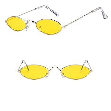 Wangwen Gafas De Sol Ovaladas Vintage Pequeñas Marco ...