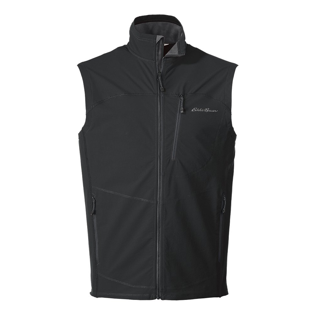 Eddie Bauer Men's Sandstone Soft Shell Vest, Dk Smoke Regular S by Eddie Bauer