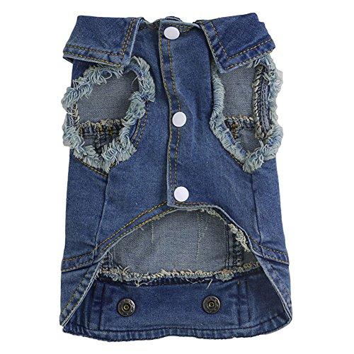 [Delight eShop Soft Blue Jeans Denim Cute Pet Dog Cat Puppy Coat Jacket Clothes Costume Apparel (XL)] (Dog Pooh Bear Costume)