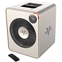 Vornado VMH500 Whole Room Metal Heater with Auto Climate, 2 Heat Settings, Adjustable Thermostat, 1-12 Hour Timer, and Remote, Champagne