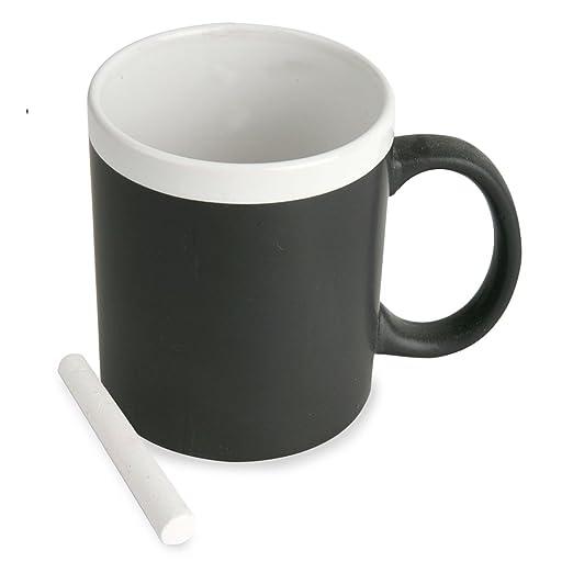 Taza pizarra con tiza. De cerámica apta para microondas ...