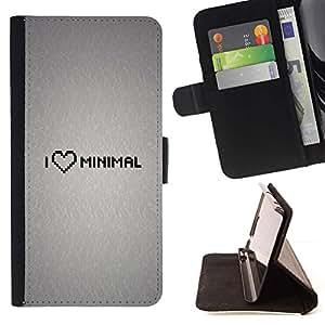 Momo Phone Case / Flip Funda de Cuero Case Cover - Amo Mínimo;;;;;;;; - Sony Xperia M4 Aqua