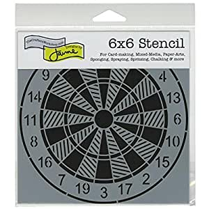 amazoncom crafters workshop template 6 by 6inch dartboard