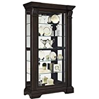 Pulaski P021583 Caldwell Traditional Sliding Front Door Curio Display Cabinet, 47' x 18' x 83', Acacia Brown