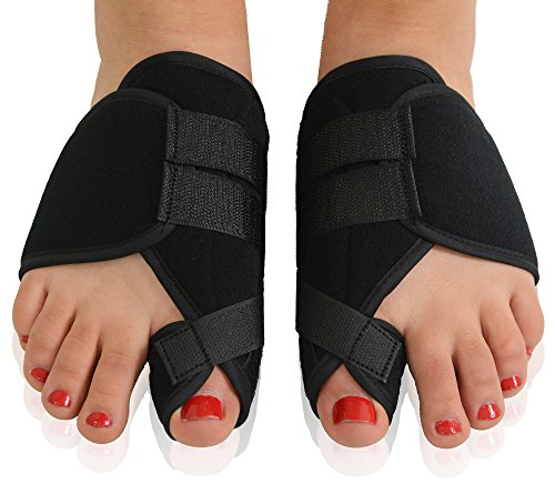- Dr. Frederick's Original Nighttime Bunion Splints - 2 Double-Stitched Velcro Bunion Correctors - Bunion Relief for Bedtime - for Men & Women