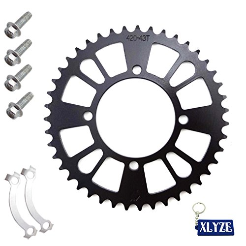 XLYZE 420 76mm 43T Rear Chain Sprocket For Pit Dirt Bike SSR Taotao Coolster ()