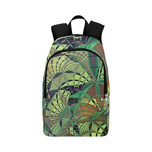AIKENING Design Concept Fractal Art Fantasy Casual Daypack Travel Bag College School Backpack for Mens and Women