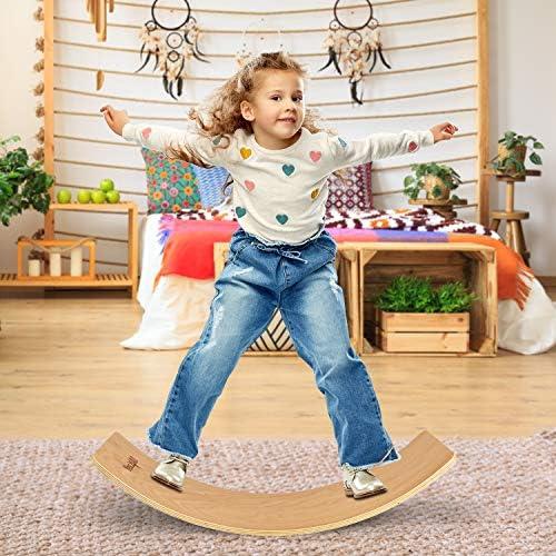 Yes4All Wooden Balance Kindergarten Balance Board Kids Wobble Balance Board