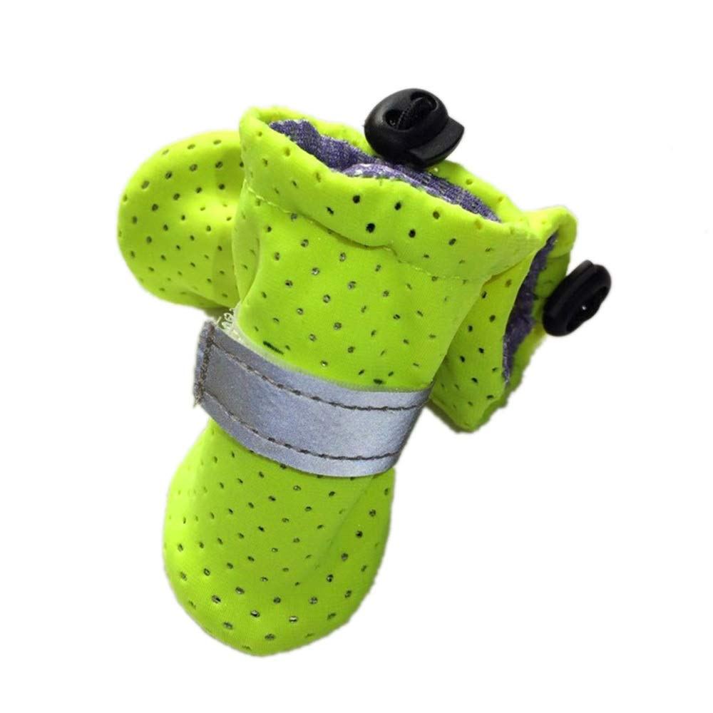 Green 1  Green 1  Huayue Pet Dog shoes Summer Breathable Wear Non-Slip Mild Tooshie shoes (color   Green, Size   1 )