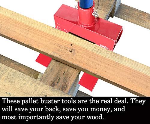 Yellow Best Wrecking Bar for Breaking Pallets Molomax 2 Secure Locking Pins Deck Wrecker Pallet Buster Steel Head