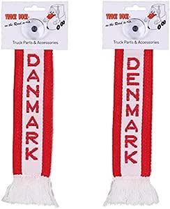 Amazon.es: TRUCK DUCK Camiones Auto Mini - Dinamarca Denmark Mini - Banderín Bandera ventosa Espejo Decoración
