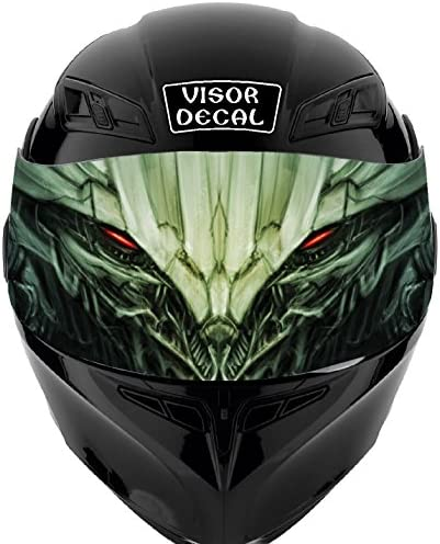v46Devil DemonバイザーTintデカールグラフィックステッカーヘルメットFits :アイコンShoei Bell HJC Oneal Scorpion AGV