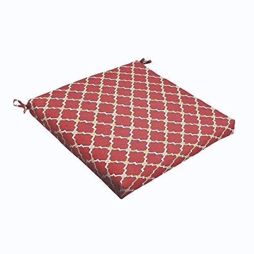 Gatton Red Gold Berry 19 x 2.5-inch Chair Cushion - (Bristol Sofa)