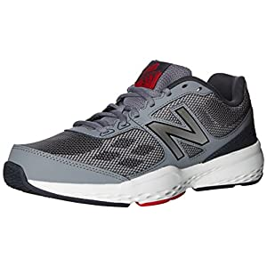 New Balance Men's MX517v1 Training Shoe, Grey/Red, 12 D US