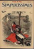 Satan Human Form Deceiving Evil Influence 1897 vintage Art Nouveau print