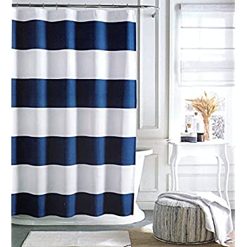 Grey White Striped Shower Curtain. Tommy Hilfiger Cabana Stripe Shower Curtain  Navy Blue and White 72 X Amazon com