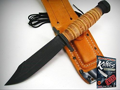 - ONTARIO Black Fixed Blade 499 Air FORCE Survival Knife + Sheath! 6150 + free eBook by ProTactical'US