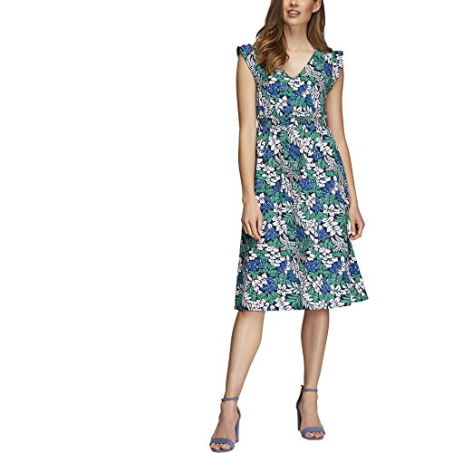 Joe Fresh Women's Print Ruffle Sleeve Dress XS Safari Green (Fresh Apparel Green)