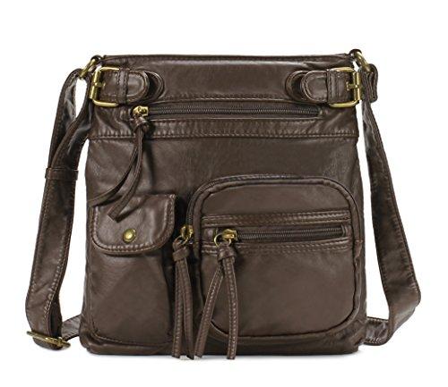 Scarleton Accent Top Belt Crossbody Bag H183321 - Coffee