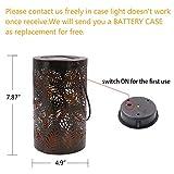 TAKE ME Solar Lantern Lights Outdoor,Garden Hanging Lights Metal Leaf Pattern Lights Lamp for Patio,Outside or Table