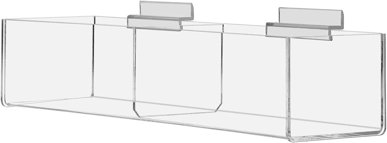 FixtureDisplays Slatwall Clear Acrylic Bin 11709-15C