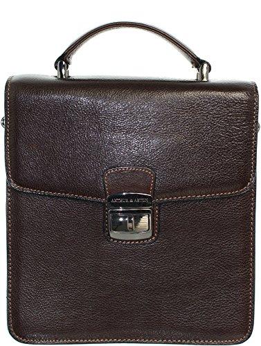 Arthur & Aston - Bolso al hombro para hombre Marrón marrón One Size