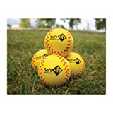 Soft Hit Seamed Foam Practice Softballs - Yellow (6 Pack)