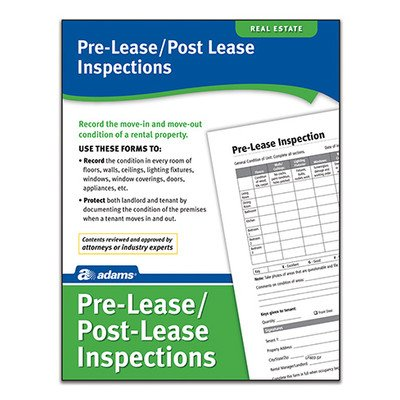 Pre Lease and Post Lease Inspections Forms and Instruction (Set of 288) [Set of 6]