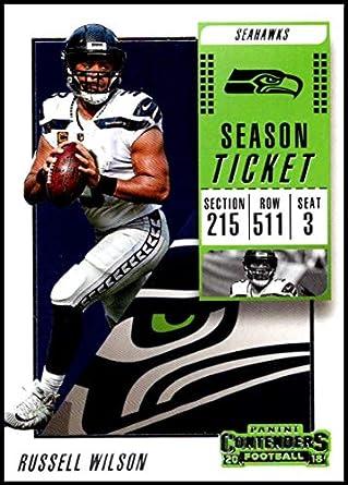 bd5c8beb0 2018 Contenders NFL Season Ticket (Base)  10 Russell Wilson Seattle Seahawks  Official Football