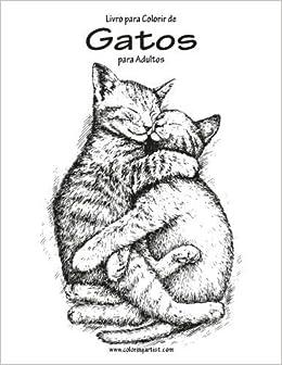 Livro para Colorir de Gatos para Adultos 1: Volume 1 by Nick ...