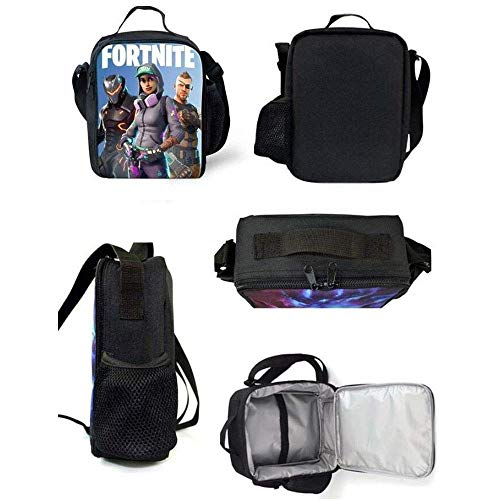 UK Fortnite Battle Royale Insulated Lunch Box Girls Boys School Bag Snack Bag