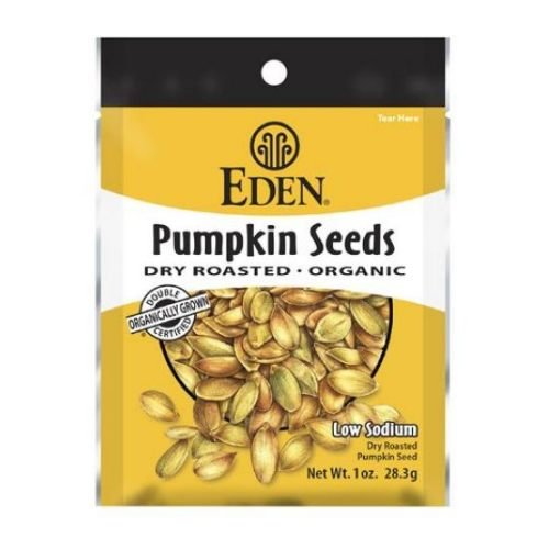 Eden Foods Organic Dry Roasted and Roasted Spicy Pumpkin Seeds, 1 Ounce - 12 per - Seeds Pumpkin Roasted Eden