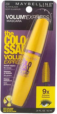 Maybelline New York Volum' Express The Colossal Washable Mascara, Glam Black, 0.31 fl. oz.