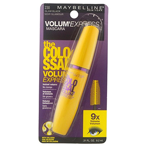 Maybelline New York Volum  Express The Colossal Washable Mascara, Glam Black, 0.31 fl. oz.