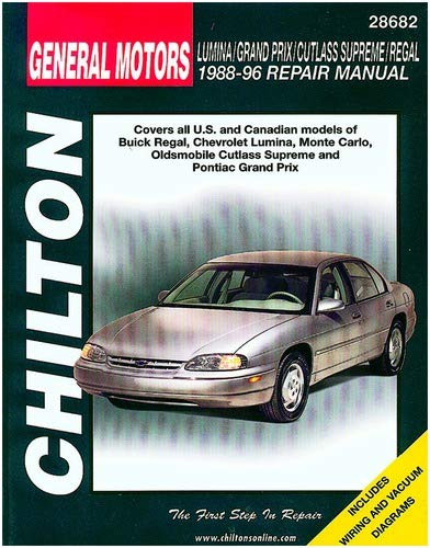 Oldsmobile Supreme Manual Cutlass - Chilton Lumina/Grand Prix/Cutlass Supreme/Regal 1988-1996 Repair Manual (28682)