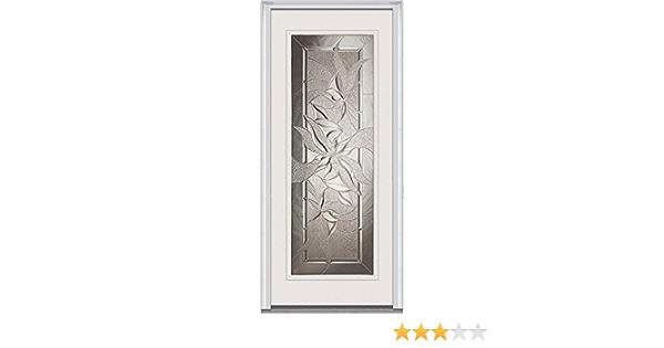 Primed Exterior Prehung Door Right Hand In-Swing National Door Company Z022367R Steel Lasting Impressions Full Lite 36x80
