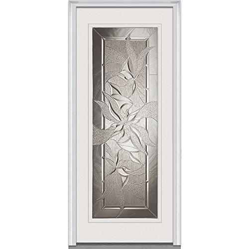 National Door Company ZA00050 Fiberglass Smooth, Primed, Right Hand Inswing, Exterior Prehung Door, Lasting Impressions, Full Lite, 36