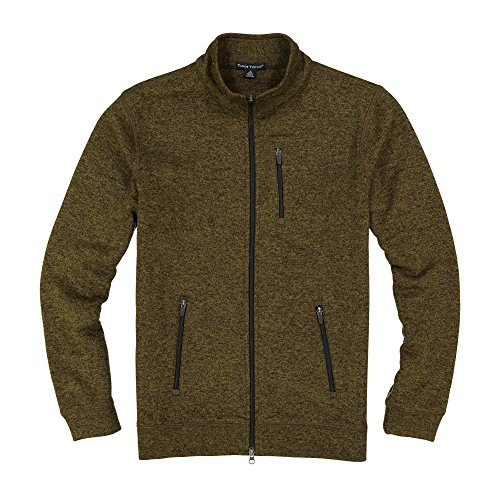 Tailor Vintage Full Zip Performance Sweater Fleece (Army Beech/Olive) 9616p954-ABE