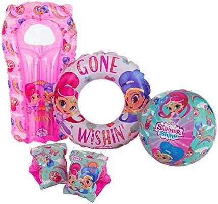 Shimmer and Shine - Juego de brazaletes hinchables para niños ...