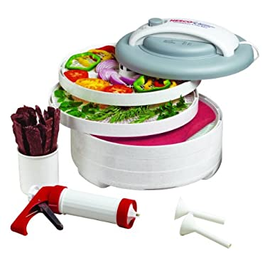 Nesco American Harvest FD-61WHC Snackmaster Express Food Dehydrator All-In-One Kit with Jerky Gun