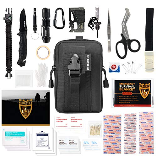 HERACLES 110 in 1 Emergency Survival Kit, First Aid Kit, Survival Gear, Survival Kit, Emergency Kit, Tactical Gear, Zombie Survival Kit, MOLLE Gear, EDC Gear, Earthquake Survival Kit