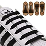 #1: INMAKER No Tie Shoelaces for Kids and Adults, 2 Pack, Elastic Shoelaces for Sneakers, Silicone Flat Tieless Running Shoe Laces
