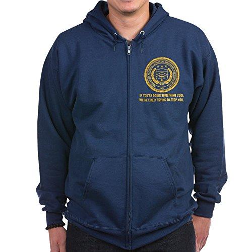 CafePress - ATF - Zip Hoodie, Classic Hooded Sweatshirt with Metal Zipper
