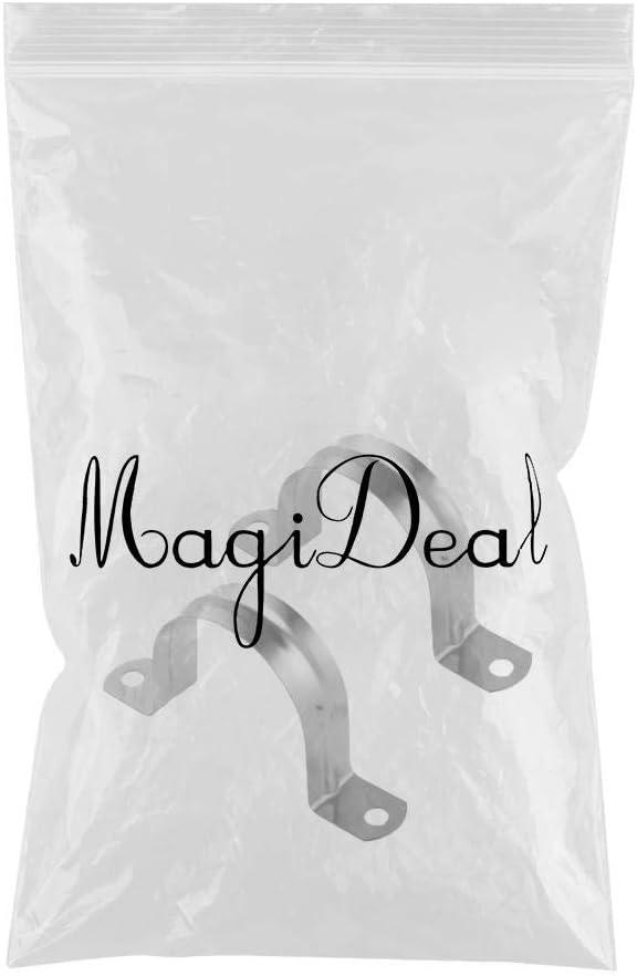 MagiDeal Lot de 2/colliers de fixation pour tuyau Acier inoxydable Tailles diverses 8 mm