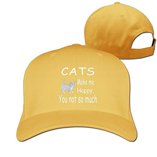 Image Unavailable. Image not available for. Color  Baseball Caps Cats Make  Me Happy Golf Dad Hat Mens Womens ... c285aa592c