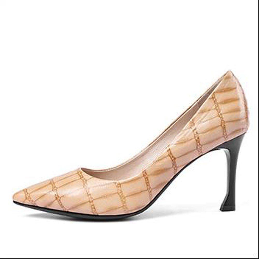 b5bdfc66 AJUNR Moda/elegante/Transpirable/Sandalias Solo zapato cabeza puntiaguda  boca superficial fino tacón