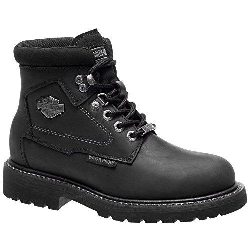Leather Boots Bedon Harley Noir Davidson Womens qgtxnIw4v