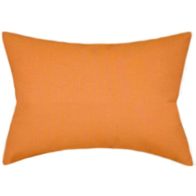TPO Design - Sunbrella Tangerine Indoor/Outdoor Solid Color Pillow 12x20 (Rectangle): Home & Kitchen